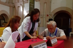 Ceremonial Contract Signing with San Lazaro Hospital.