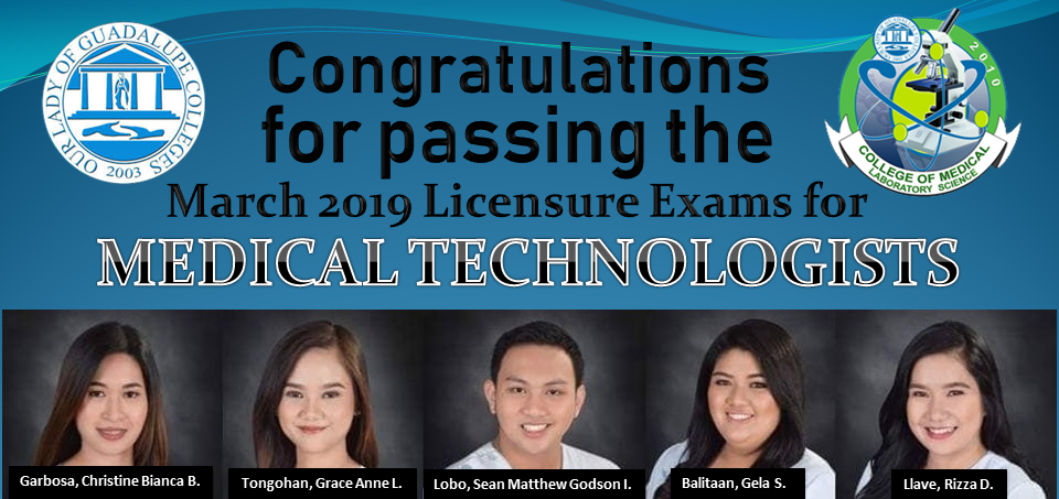 Medical Technologist Licensure Examination - March 2019