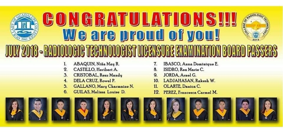 Radiologic Technologist Licensure Examination - July 2018
